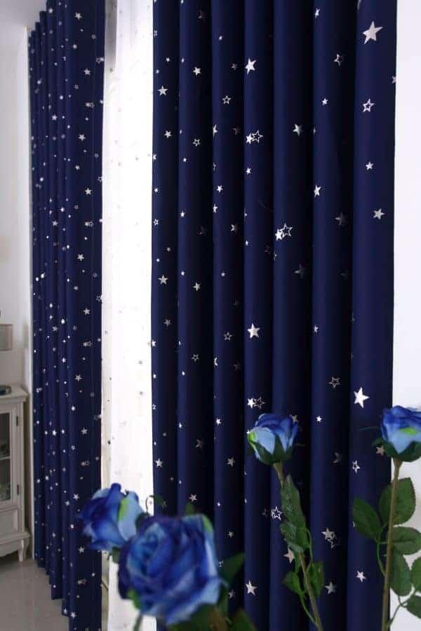 Blauw sterren gordijn