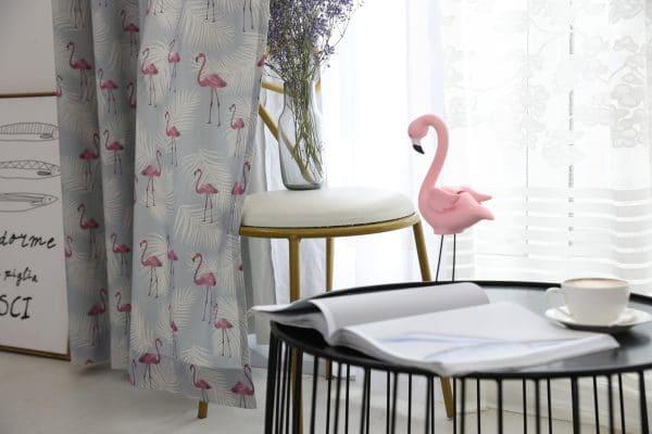 Flamingo gordijn