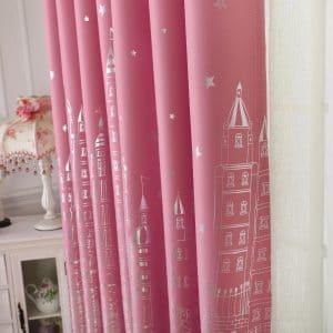 Kasteel roze gordijn