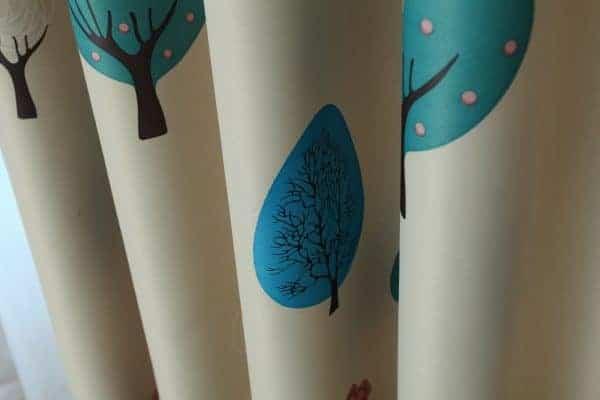 Bomen gordijn