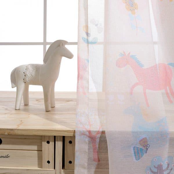 Paarden gordijn