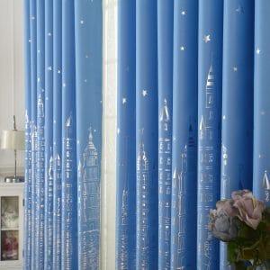 Kasteel blauw gordijn
