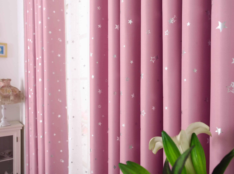Kinderkamer Gordijnen Sterren : Ster gordijnen roze leuke kindergordijnen