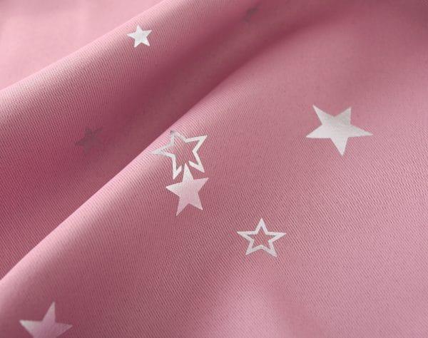 Sterren gordijn roze