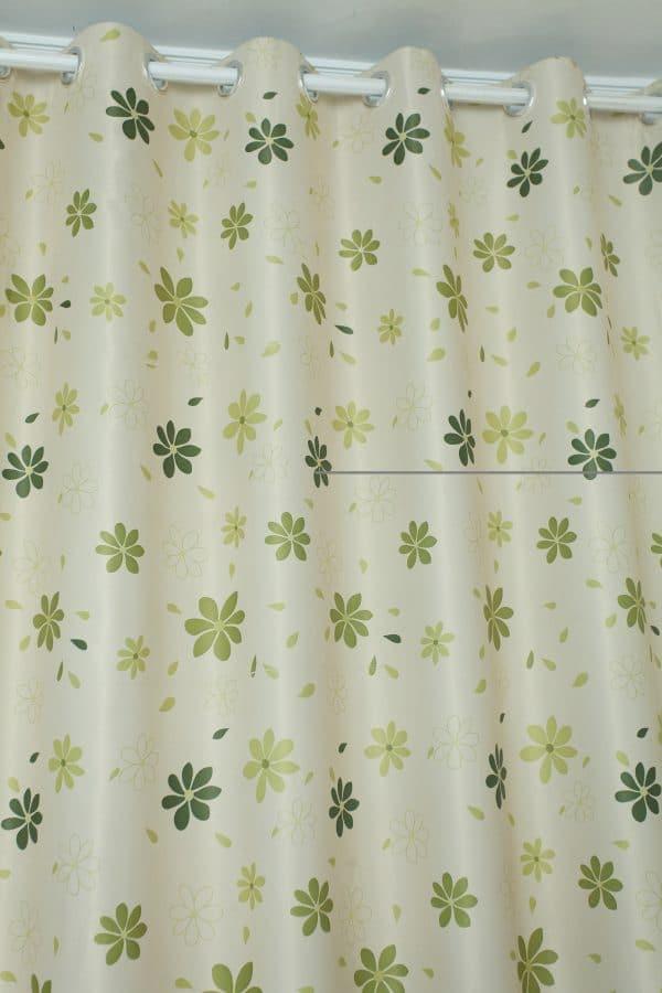 Groene bloemen gordijnen