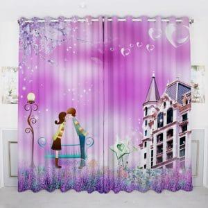 Princes gordijnen 3D paars
