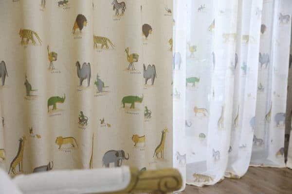 Safari dieren steppe gordijn