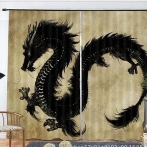 Chinese draak 3D gordijnen
