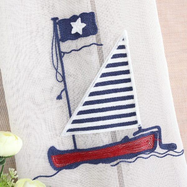 Zeilboot gordijn