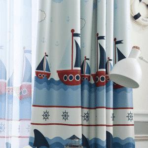 Boten & Ankers gordijnen blauw