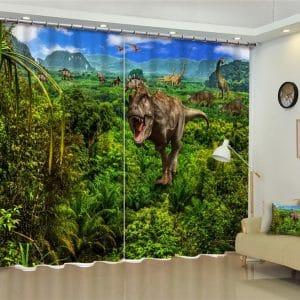 Dino TREX 3D bos gordijnen