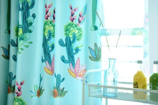 cactus gordijnen licht groen