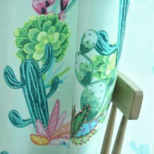 Cactus gordijnen  lichtgroen
