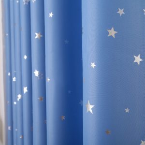 Ster gordijnen lichtblauw