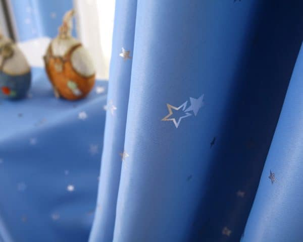 licht blauw sterren gordijn