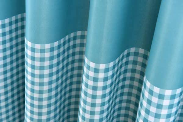 regenboog blauw gordijn