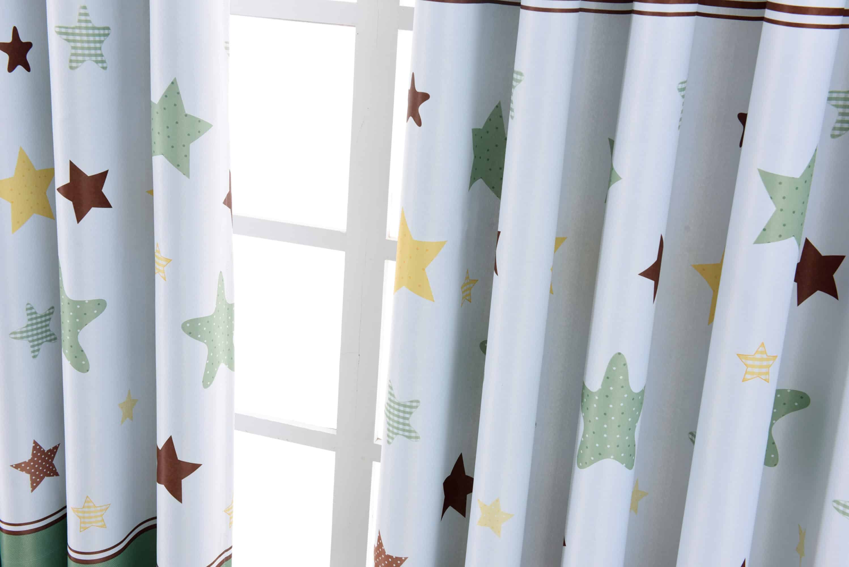 Kinderkamer Gordijnen Sterren : Ster gordijnen groen leuke kindergordijnen