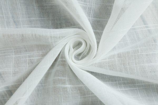 Witte vitrage gordijn lichte horizontale streepstructuur