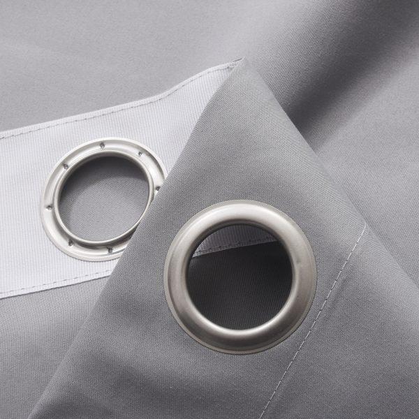 Verduisterings gordijnen 100% verduisterend licht grijs