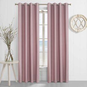 Verduisteringsgordijnen 100% donker licht roze