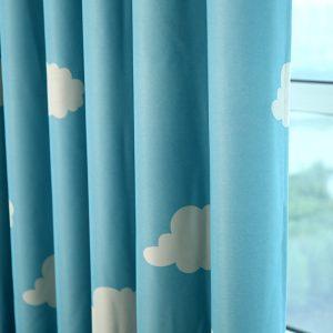 Wolken gordijnen kleur blauw