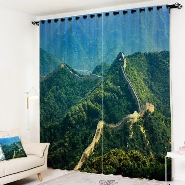 Chinese muur gordijn