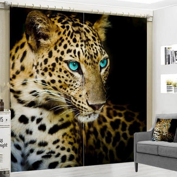 Cheetah gordijn