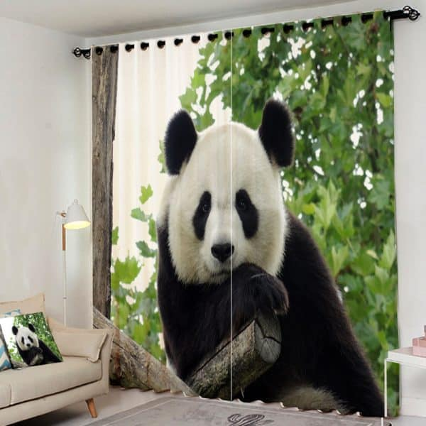 Panda gordijn