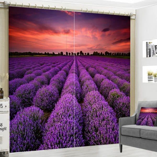 Lavendel foto gordijn