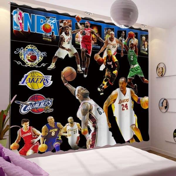 Basketball gordijn