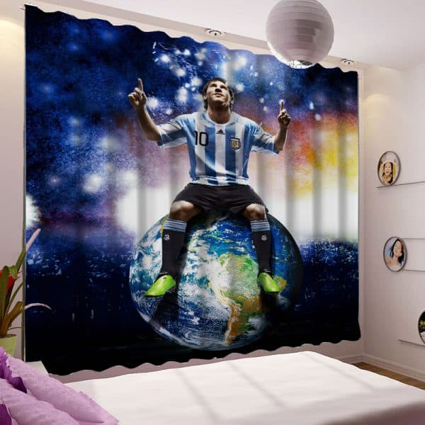 Messi foto gordijn