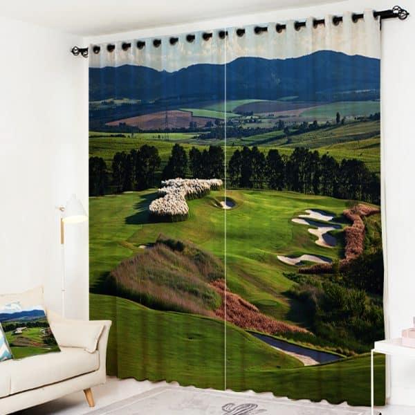Golf foto gordijn