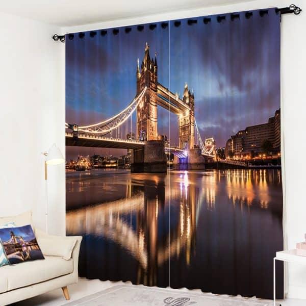 Tower Bridge foto gordijn