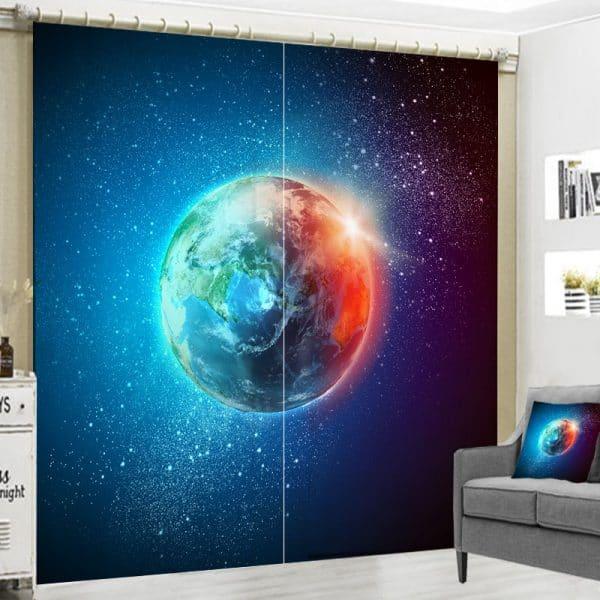 Aarde foto gordijn