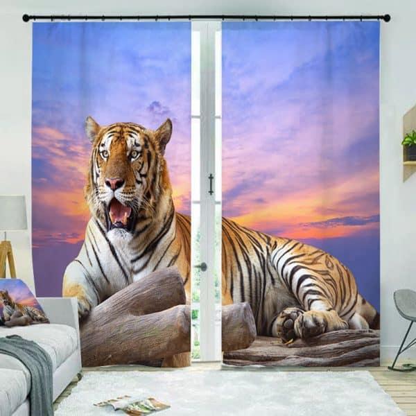 tijger gordijn