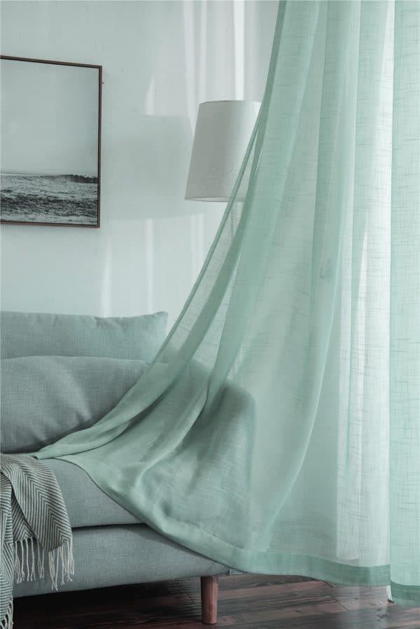 Turquoise vitrage