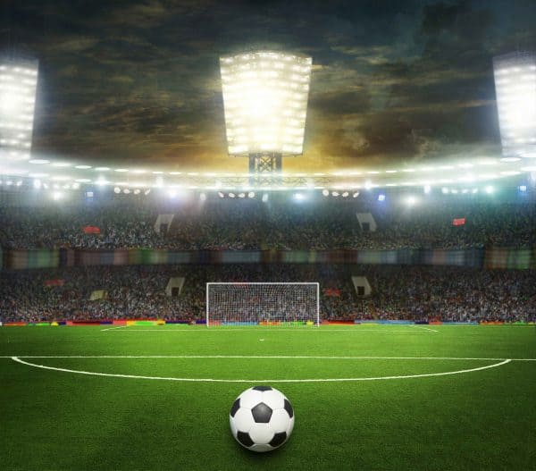Voetbal stadion gordijnen