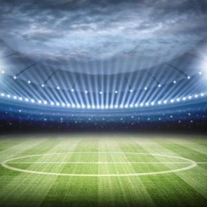 Voetbal Stadion avond wedstrijd 3D gordijnen