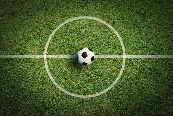 Voetbal gordijn middenstip