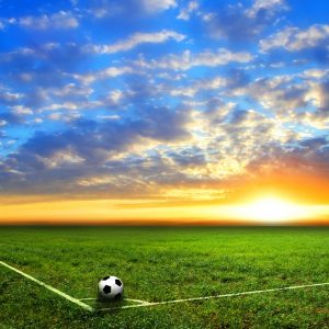 Voetbal corner gordijnen