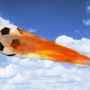 Voetbal komeet gordijnen