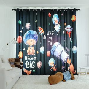 "Ruimte Planeten gordijnen kinderkamer ""Dream Big"""