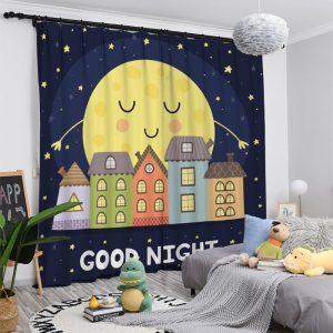 "Maan gordijnen kinderkamer ""Good Night"""
