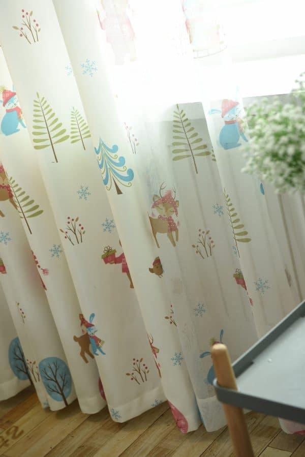 Dierenbos Kinderkamer gordijnen