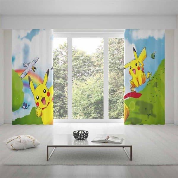 Pokemon Pikachu gordijnen