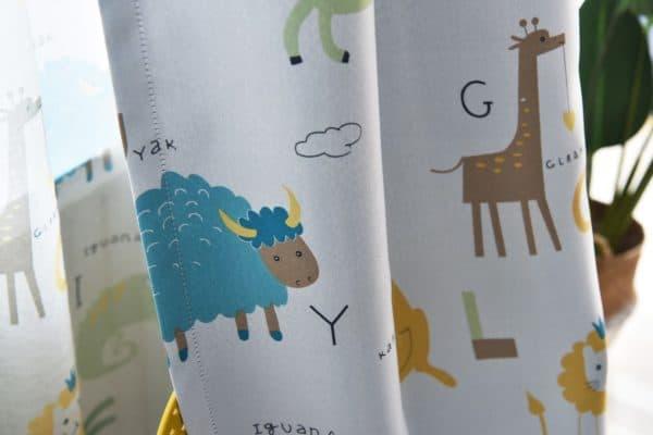 Safari Dieren - Leukekindergordijnen